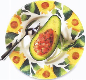Avocado With Tomatoes & Mint