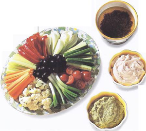 Mediterranean Dips With Crudites