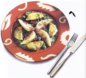 Warm Salad With Pear & Blue Cheese