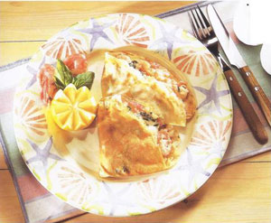 Creamy Seafood Crepes