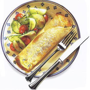 Souffle Crepes With Broccoli & Cheese