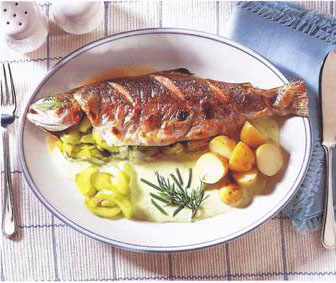 Broiled Trout With Cucumber & Dill