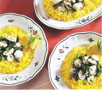 Scallops With Asparagus & Lemon