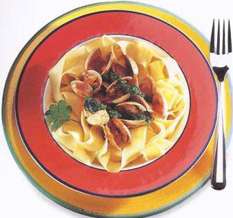 Spicy Clams With Cilantro Pesto